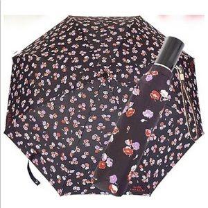 NWT 100% Authentic Coach FLORAL Print Umbrella